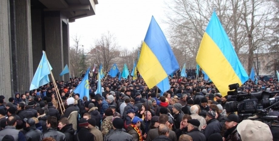 События 26 февраля 2014 года в Крыму / Фото: qha.com.ua