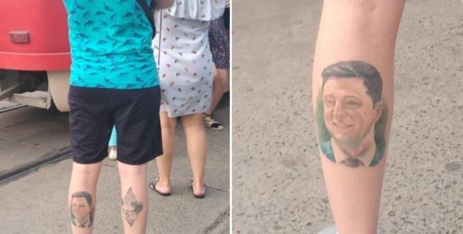 тату с Зеленским, татуировка с Зеленским, тату с президентом, Владимир Зеленский