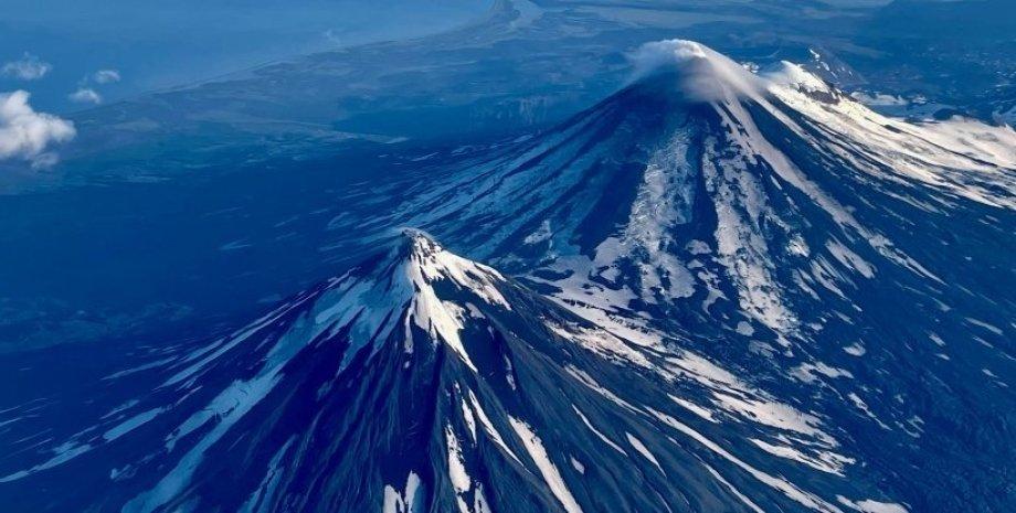 вулкани, Аляска, небо, знімок