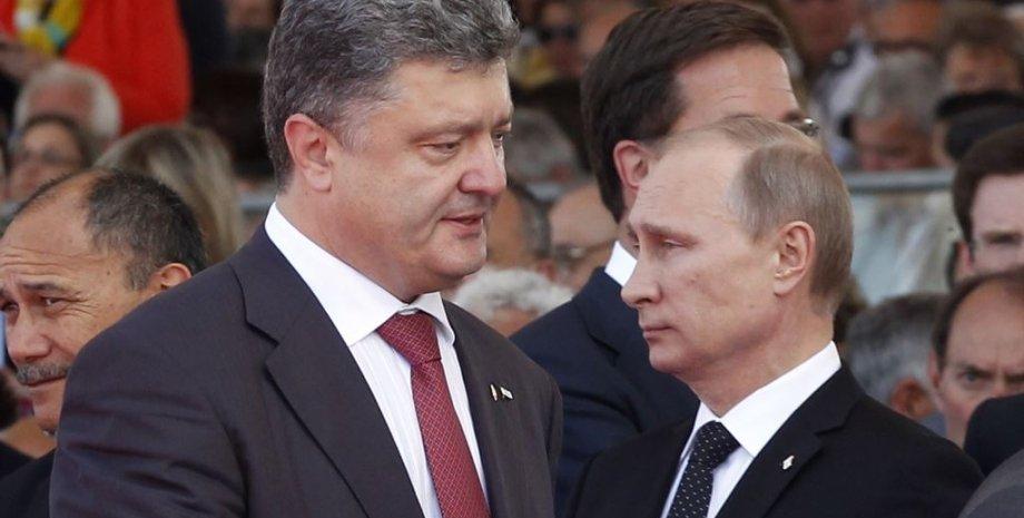 Петр Порошенко и Владимир Путин / Фото: ЕРА