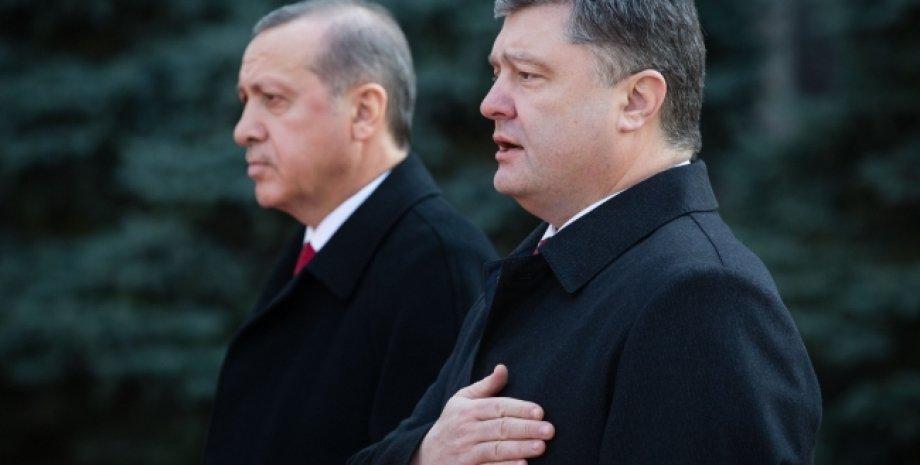 Петр Порошенко и Реджеп Тайип Эрдоган / Фото: пресс-служба президента Украины