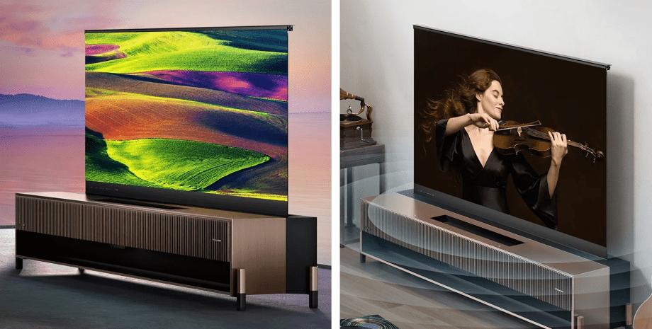 Компания Hisense создала первый в мире телевизор с выдвижным экраном
