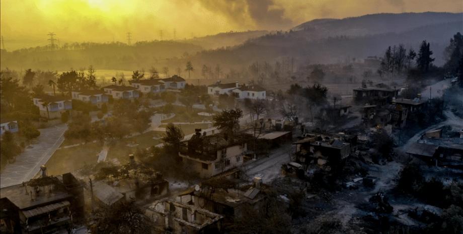 пожары в Турции, последствия, огонь