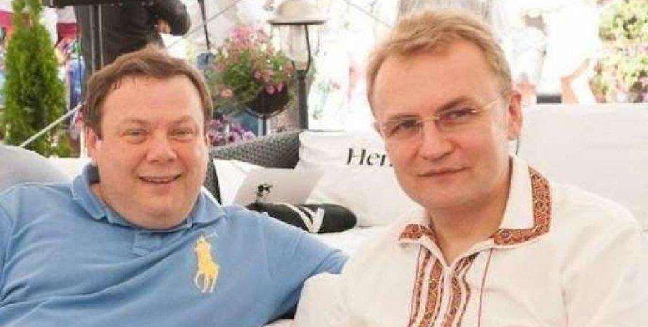 Михаил Фридман (слева) и мэр Львова Андрей Садовой.  Фото: lviv1256.com