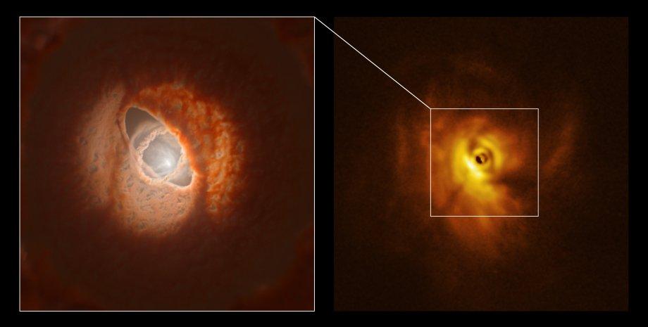 система GW Orionis. космос, облака, фото