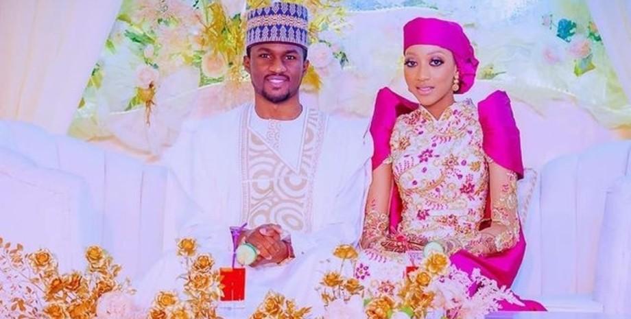Юсуф Бухари,  Захра Насира Байеро, жених, невеста, свадьба