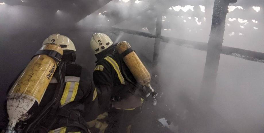 Пожежа в центрі Києва, ДСНС, рятувальники