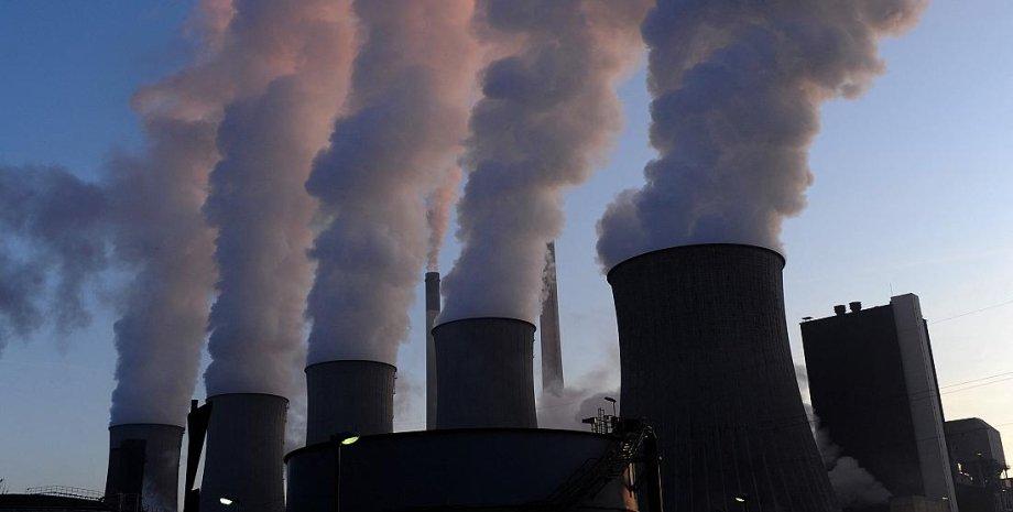 вугілля, тес, газ, викиди CO2