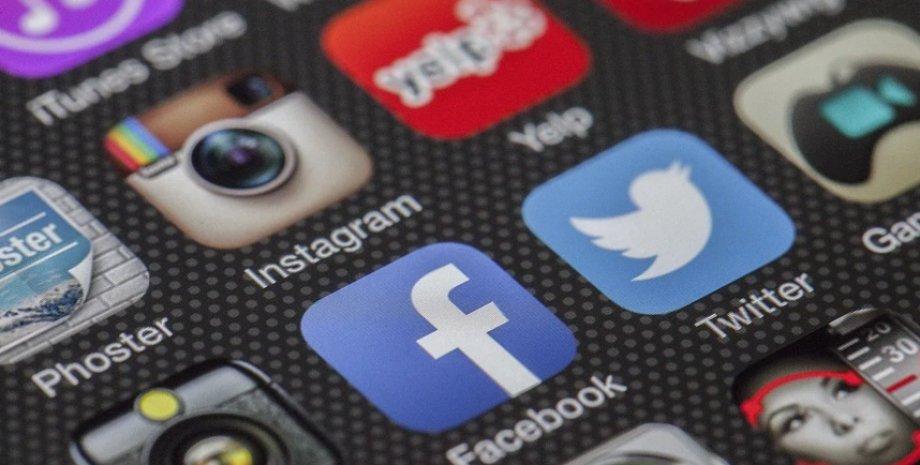 збій, соціальні мережі
