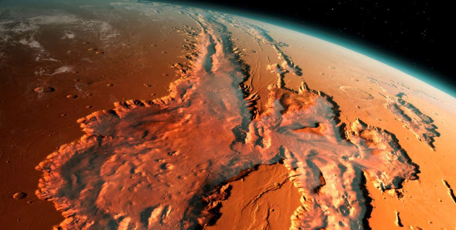 Марс, ілюстрація, поверхня