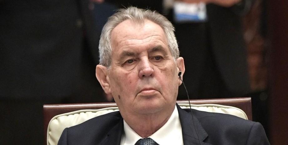 Милош Земан, выборы в Чехии, госпитализация Земана