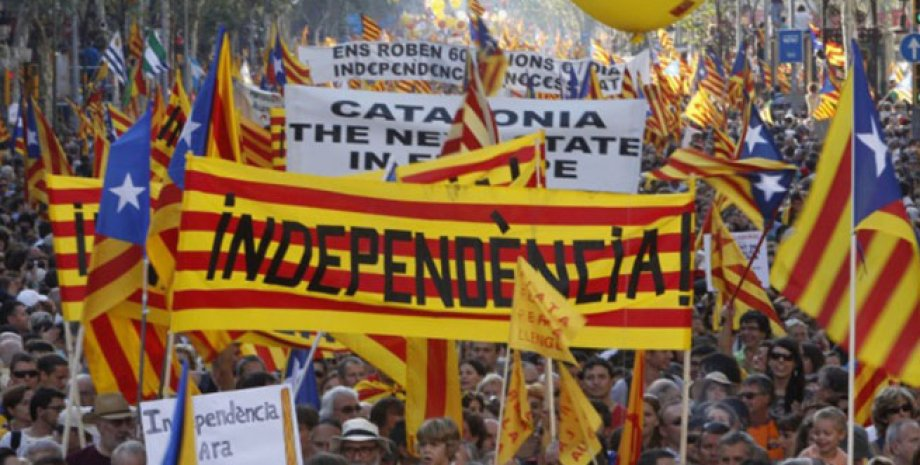 Митинг в поддержку независимости Каталонии / Фото: siol.net