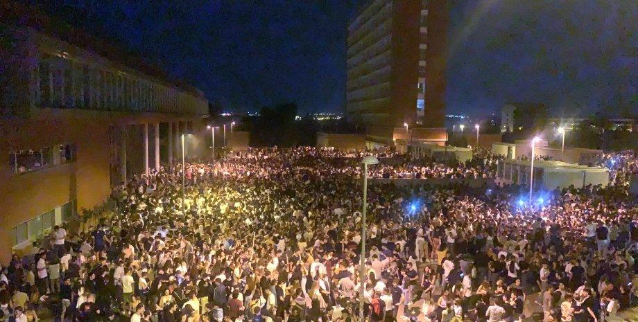 Мадрид, вечеринка, студенты