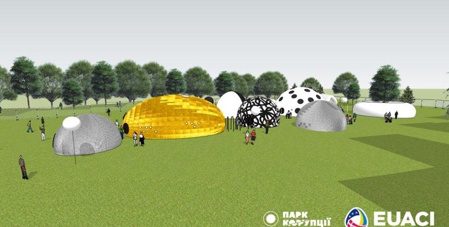 Виртуальный макет парка/Фото: facebook.com/CorruptionPark