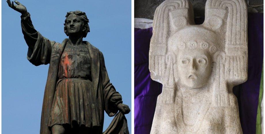 статуя, колумб, мексика, мехіко