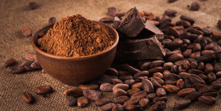 какао, порошок, боби, фото