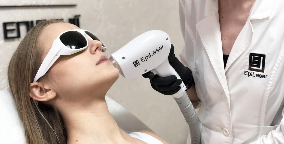 лазерне видалення світлого волосся на лиці