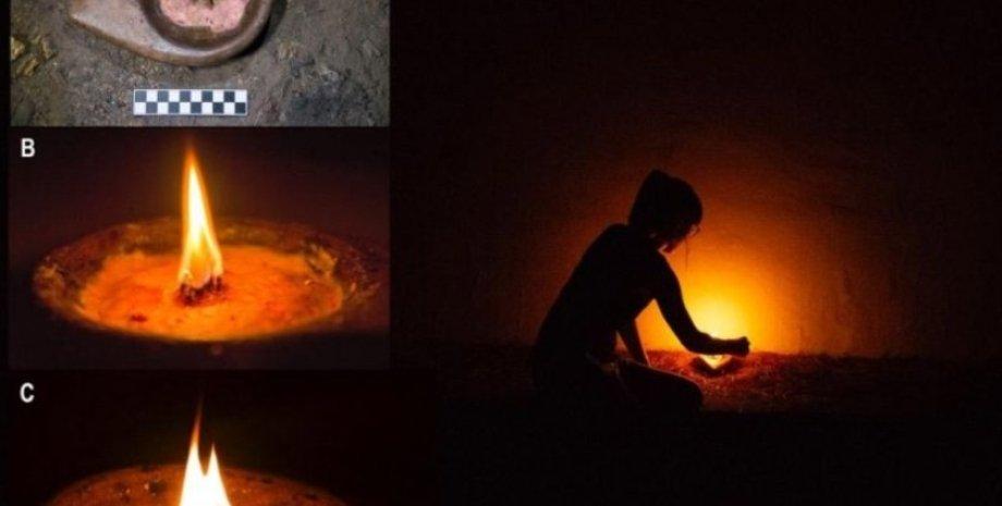 пещера, свет, освещение, первобытные люди