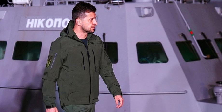 Зеленский, президент, военный корабль,