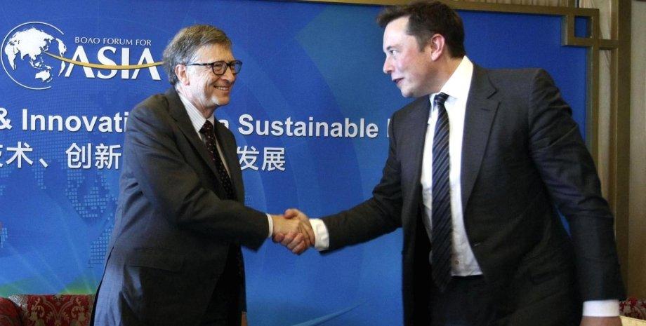 """Билл Гейтс (слева) и Илон Маск. Фото: """"Пикабу"""""""