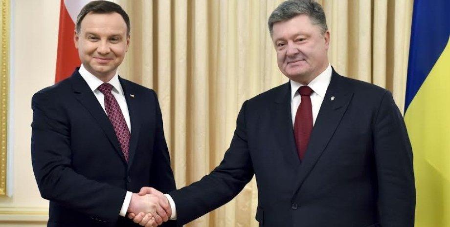 Петр Порошенко и Анджей Дуда / Фото: Пресс-служба президента