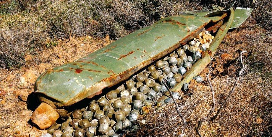 Кассетный снаряд / Фото из открытого источника