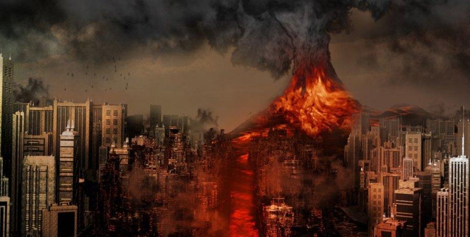апокалипсис, конец света, извержение вулкана
