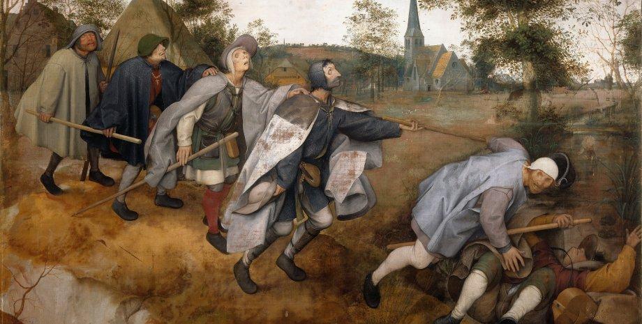 """Притча о слепых"", Питер Брейгель Старший (1568)"