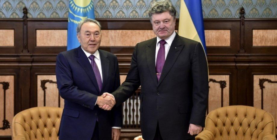 Нурсултан Назарбаев и Петр Порошенко / Фото: сайт президента Украины