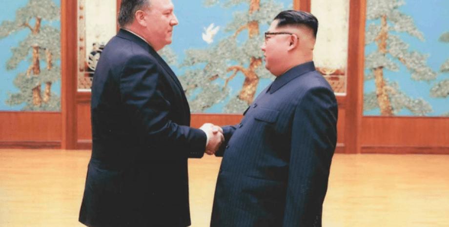 Ким Чен Ын и Помпео/Фото: twitter.com/PressSec