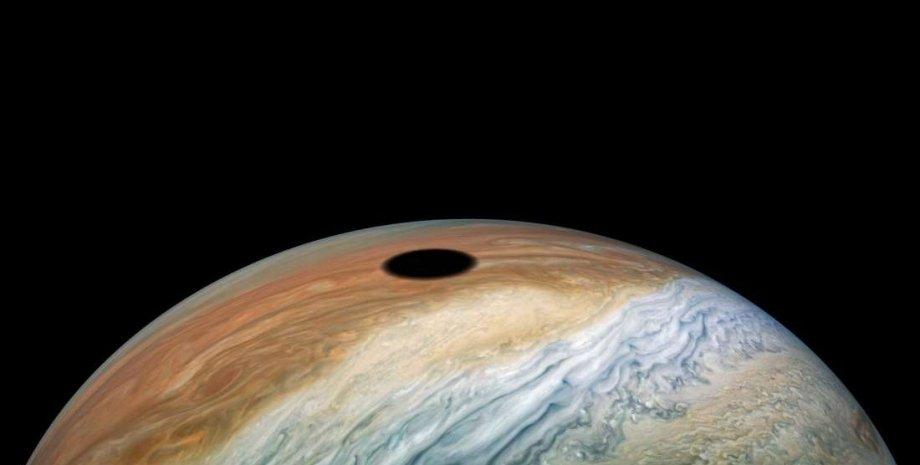 Jupiter - PJ22-28 - Shadow of Io. NASA/JPL-Caltech/SwRI/MSSS/Kevin M. Gill CC BY 2.0