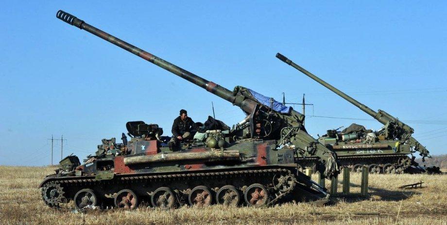"""САУ """"Пион"""" / Фото пресс-службы Минобороны Украины"""