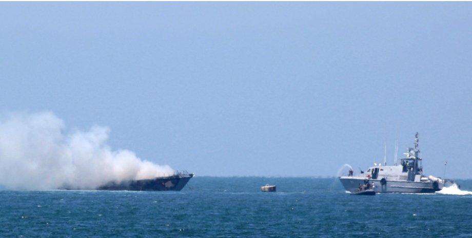 Уничтоженный египетский фрегат / Фото: Getty Image