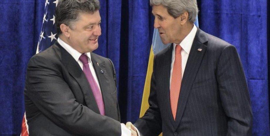 Порошенко и Керри / Фото: facebook.com/petroporoshenko