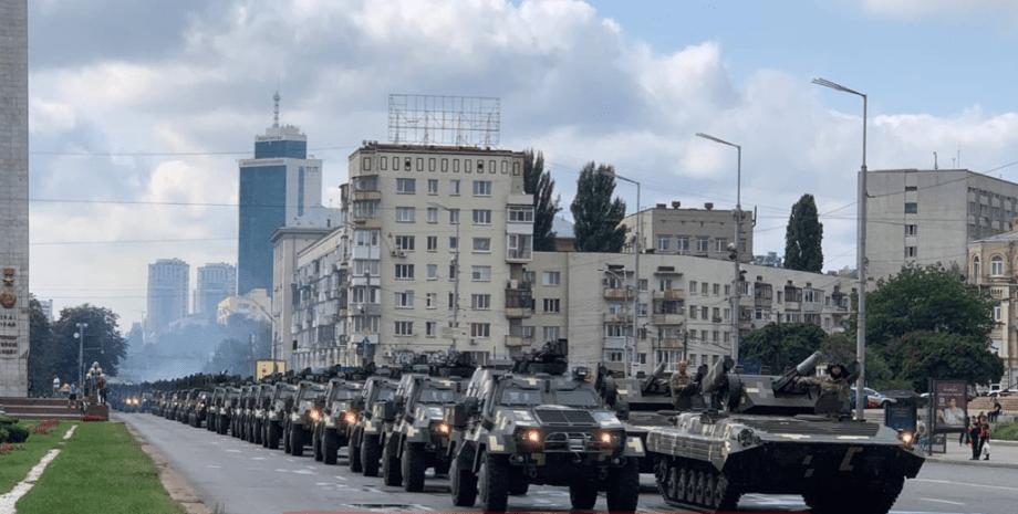 парад, день независимости, репетиция парада в Киеве