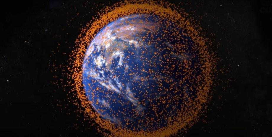 космический мусор, Земля, планета,