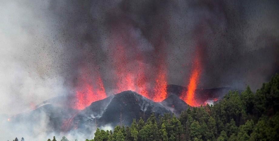 Канары, вулкан, извержение,