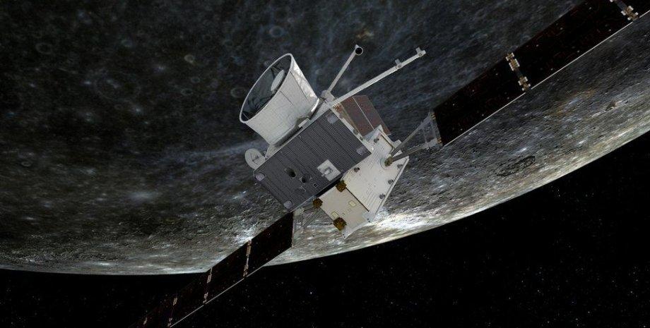 Космічний апарат BepiColombo на орбіті Меркурія