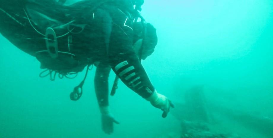 водолаз, затонувшее судно, феодосия