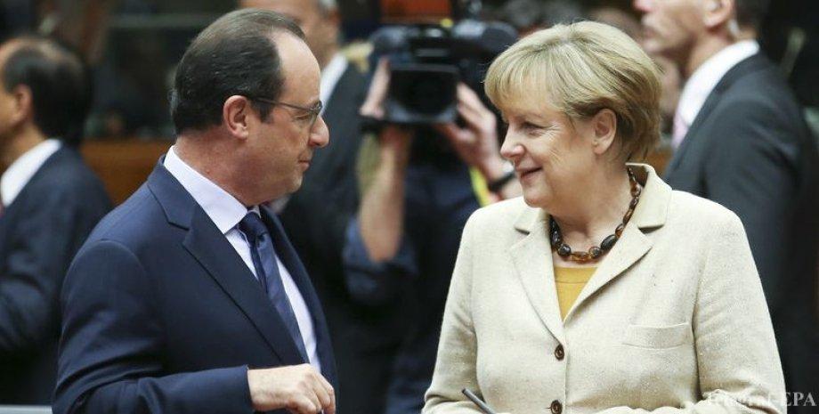 Франсуа Олланд и Ангела Меркель / Фото: Telegraf-EPA