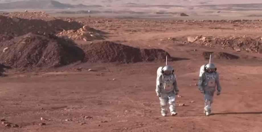 Эксперимент, кратер Рамон, астронавты, симуляция жизни на Марсе