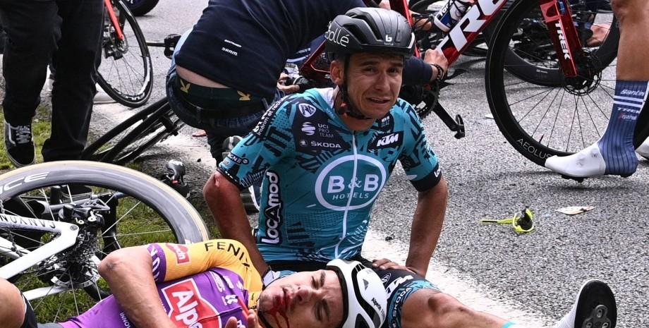 Tour de France, Тур де Франс, авария на Tour de France, завал Тур де Франс