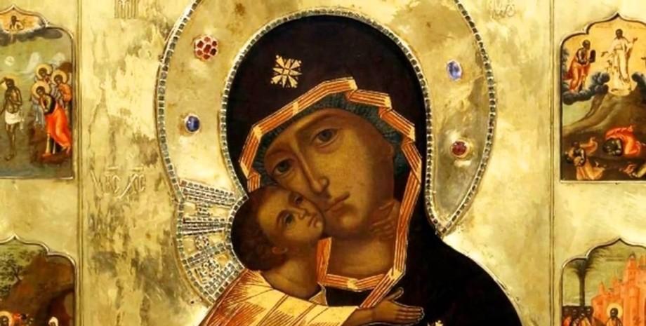богоматерь с младенцем иисусом, икона, дева мария, пресвятая богородица