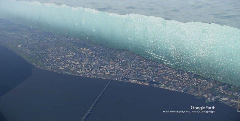 ледник, город, визуализация, фото
