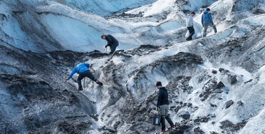 ледник, аляска, самолет разбился