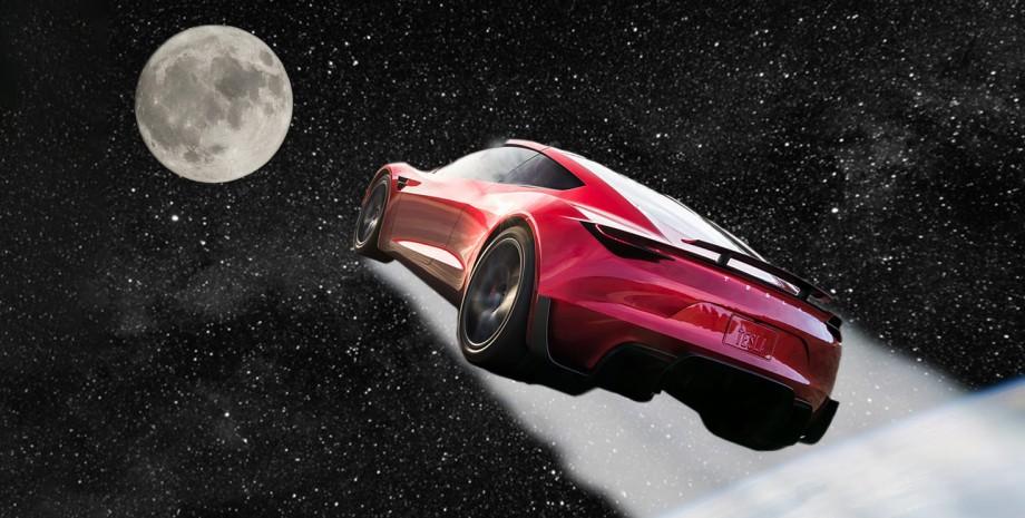 автопилот Tesla Луна