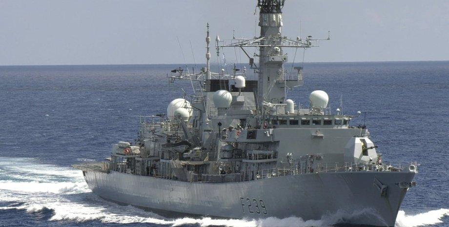 проход британского корабля через тайванский пролив