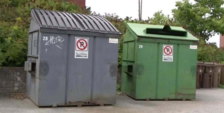 Контейнери для сміття, канада, поліція, фото