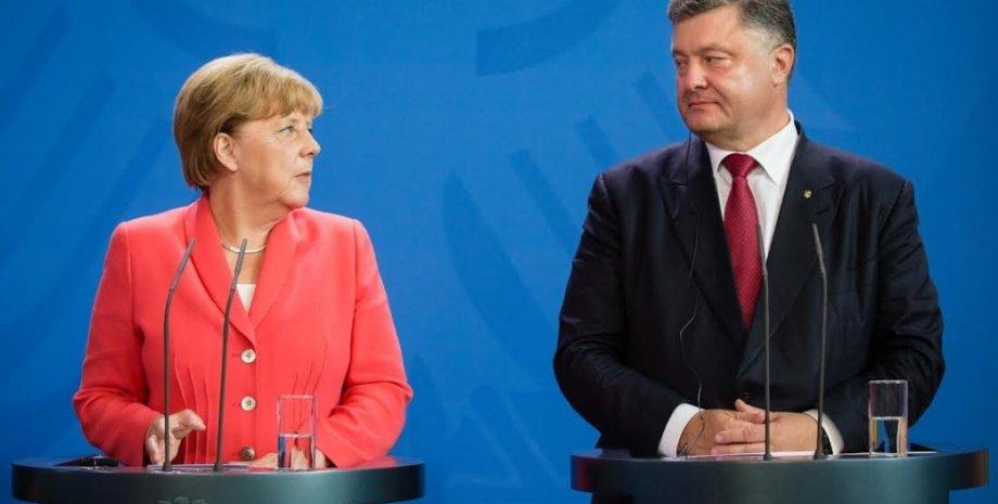 Петр Порошенко и Ангела Меркель / Фото пресс-службы президента