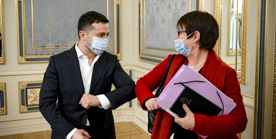 зеленский, владимир зеленский, офис президента, ебрр, Одиль Рено-Бассо